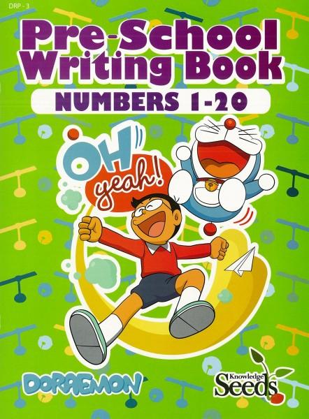 DORAEMON PRE-SCHOOL WRITING BOOK NUMBERS 1-20 DRP - SERIES 2