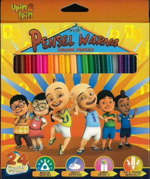 UPIN & IPIN COLOUR PENCILS - 24 PIECES