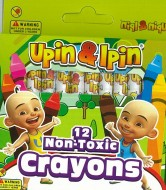 UPIN & IPIN NON-TOXIC CRAYONS - 12 PIECES
