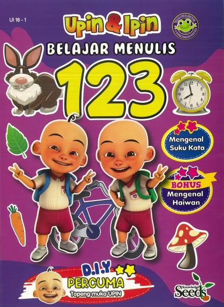 UPIN & IPIN BELAJAR MENULIS 123 UI 18 - SERIES 1
