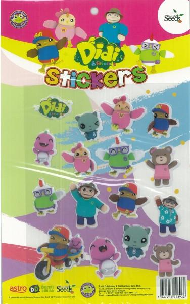 DIDI & FRIENDS STICKER - 2 ( PINK )