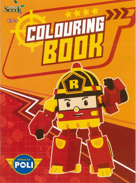 ROBOCAR POLI COLOURING BOOK RC1B - SERIES 3