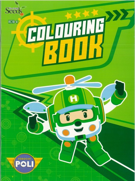 ROBOCAR POLI COLOURING BOOK RC1B - SERIES 4