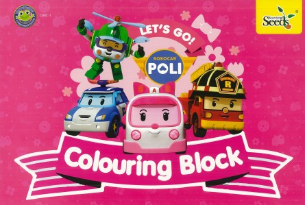 Robocar Poli Colouring Block CBRC - Series 1